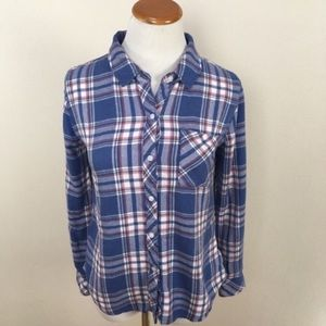 Rails Hunter Plaid Button Down Shirt Sz XS